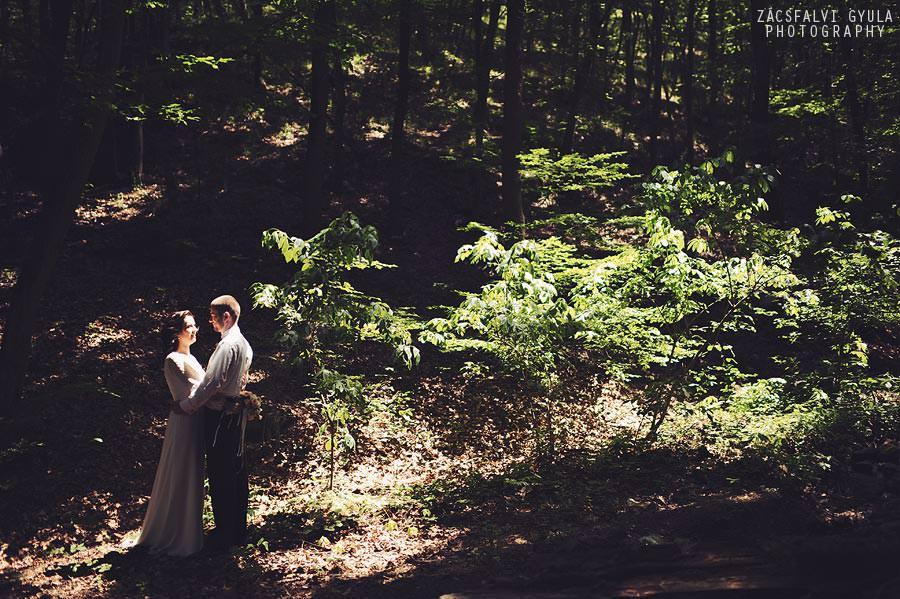Visegrádi esküvő kreatív fotózás a Fellegvárban