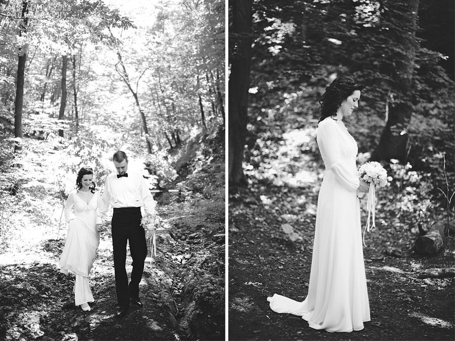 Visegrádi esküvő kreatív fotózás az erdőben