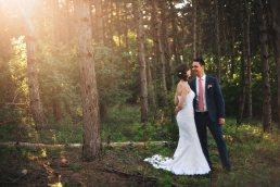 wedding couple in the forest near Etyek, Hungary