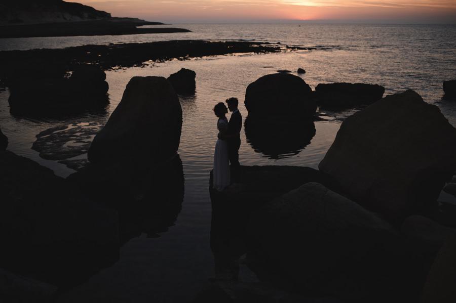 Sunset silhouette portrait