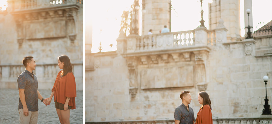 Budapest Engagement photo session - Buda Castle