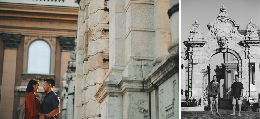 Budapest Engagement photography - Buda Castle
