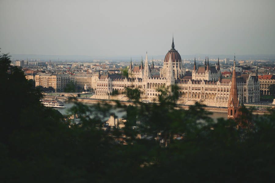 Budapest Parliament in sunset