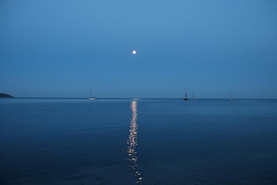 Moonlight above Charlestown