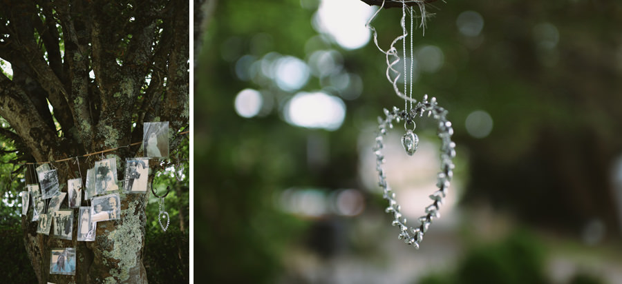 Family tree and handmade crystal heart  - wedding decoration