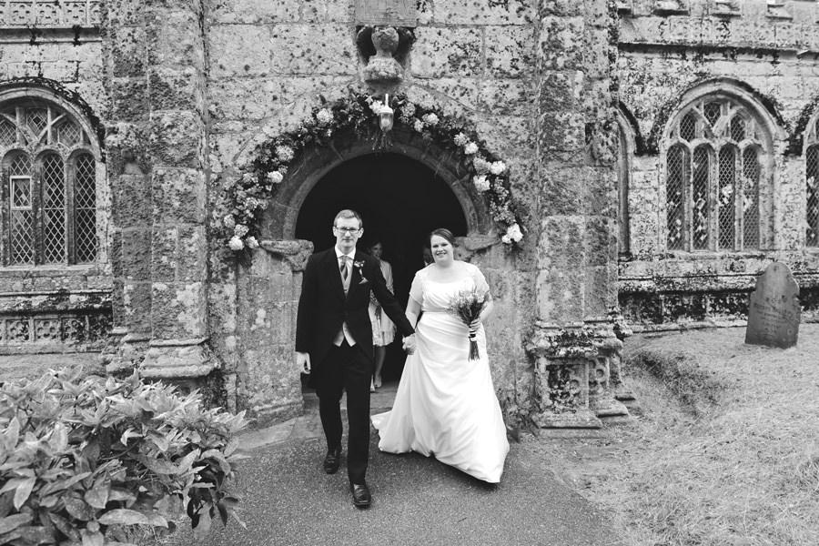 Wife and Husband leaving Church, Cornwall, England - Zácsfalvi Gyula