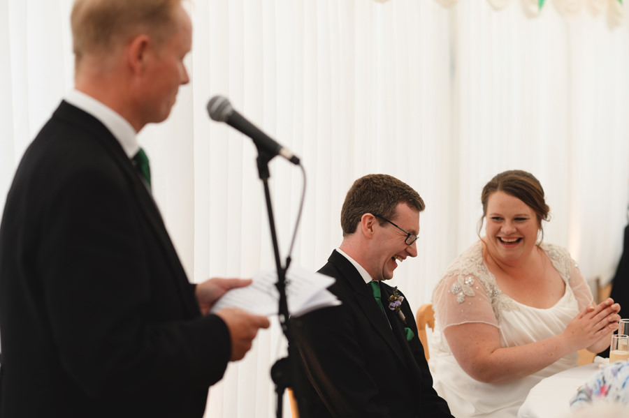 Wedding reception, father's speech in Cornwall, England - Zácsfalvi Gyula