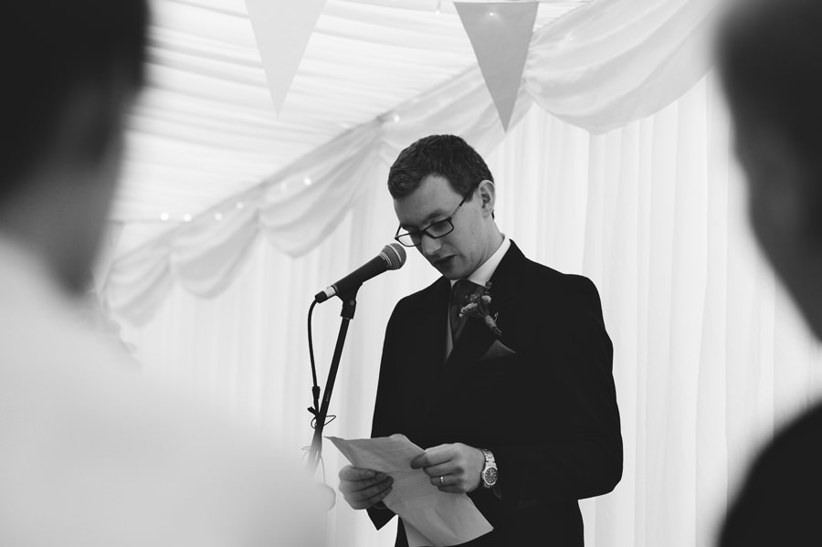 Wedding reception, groom's speech in Cornwall, England - Zácsfalvi Gyula