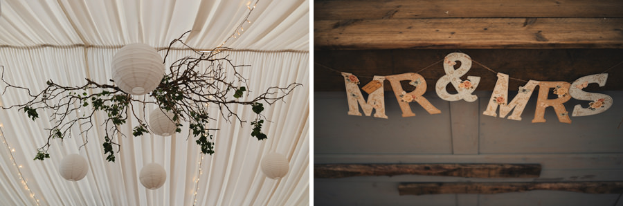 Wedding decoration details Cornwall, England