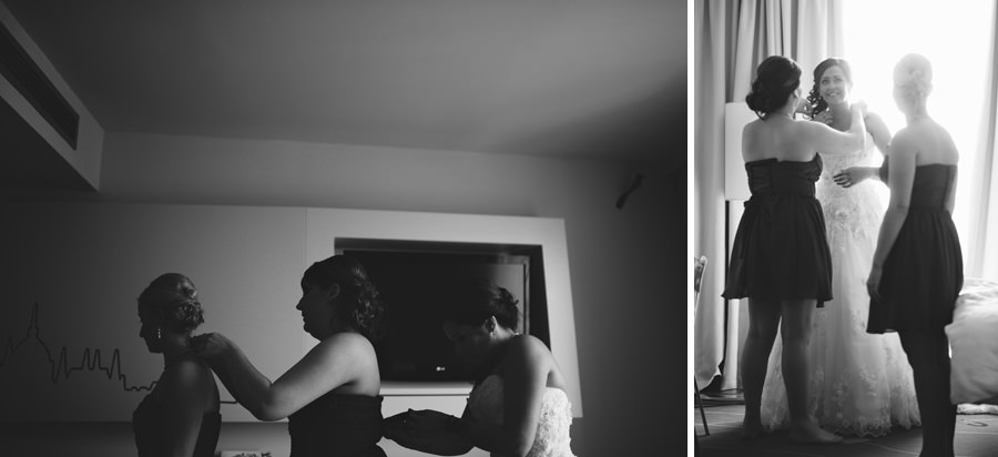 bride getting ready in Art Hotel Budapest wedding