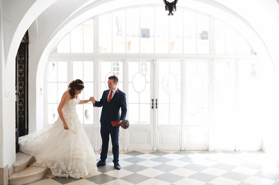 Civil ceremony in Budapest Castle, registry office