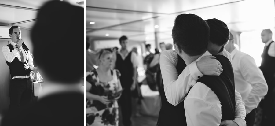 wedding on a boat on the Danube, Budapest