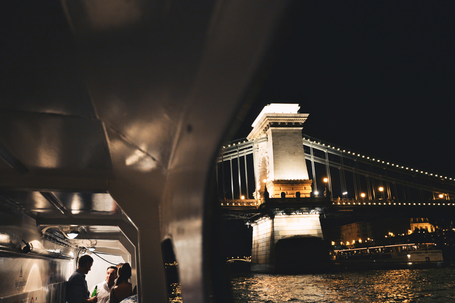 wedding party on a boat on the Danube, Budapest