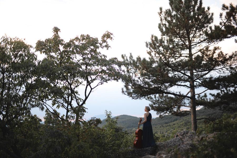 musician cellist portrait in the forest Hungary - Zácsfalvi Gyula