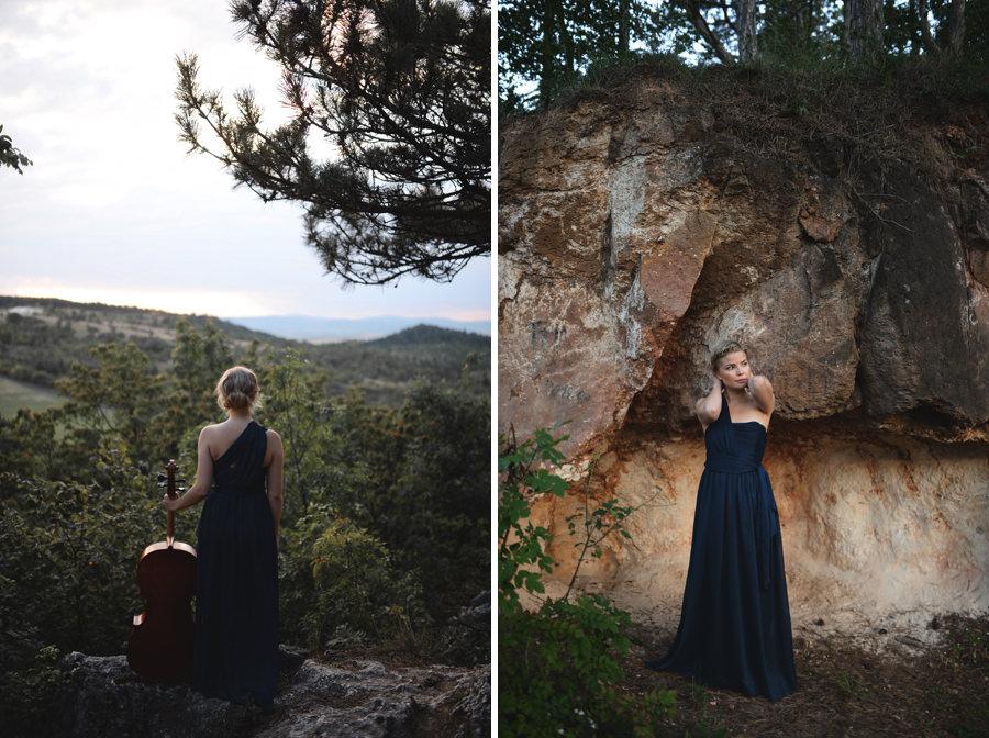 musician cellist portrait in the forest Budapest - Zácsfalvi Gyula
