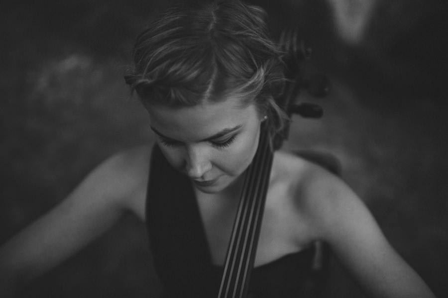 musician cellist portrait in the forest - Zácsfalvi Gyula