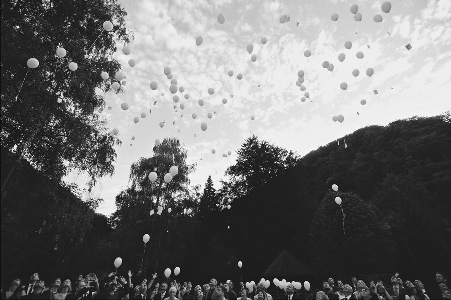 Luftballons in wedding party
