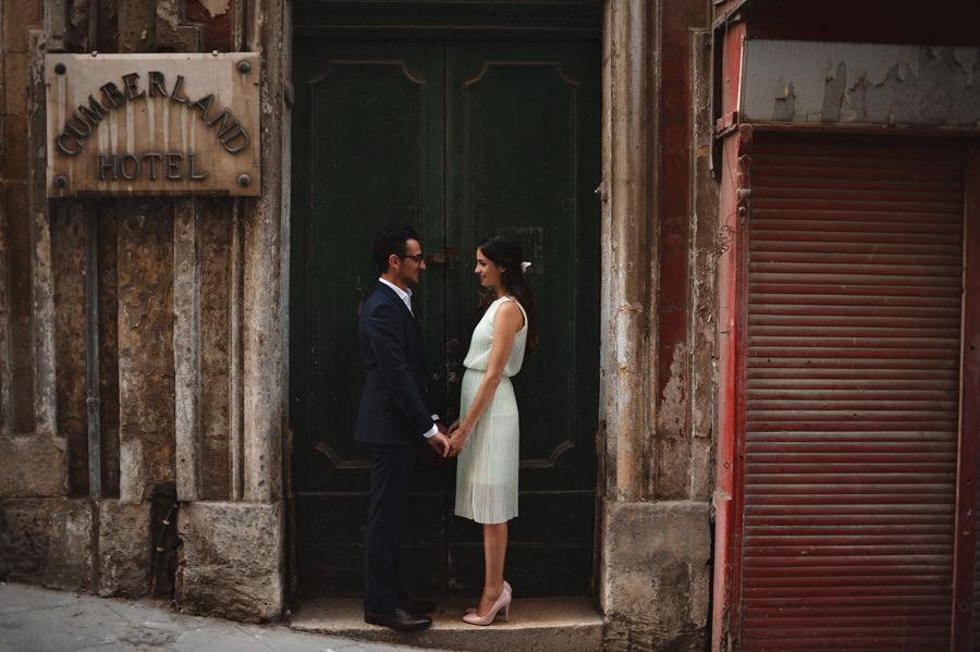 Malta, Valletta wedding portrait