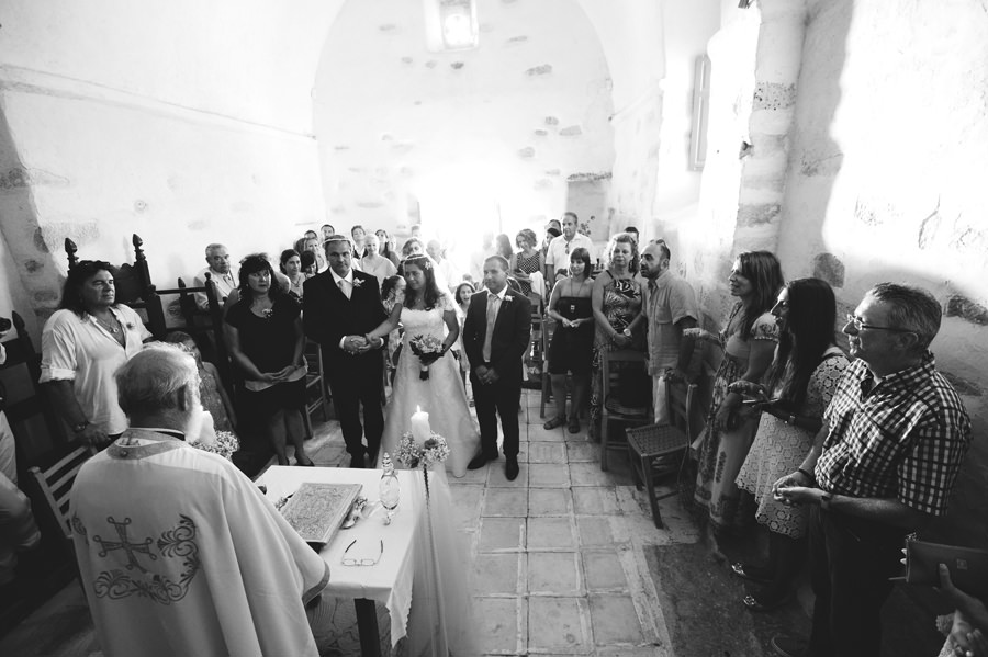 Paros wedding ceremony in church