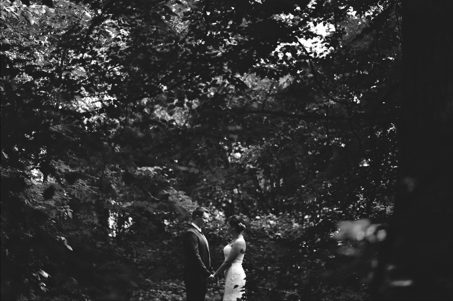 wedding couple in forest