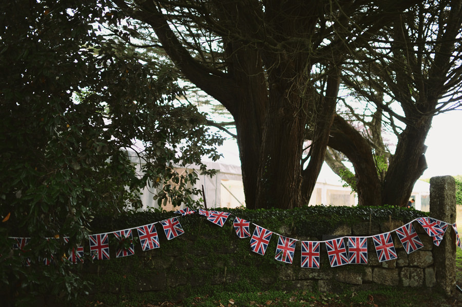 Union jack at wedding party