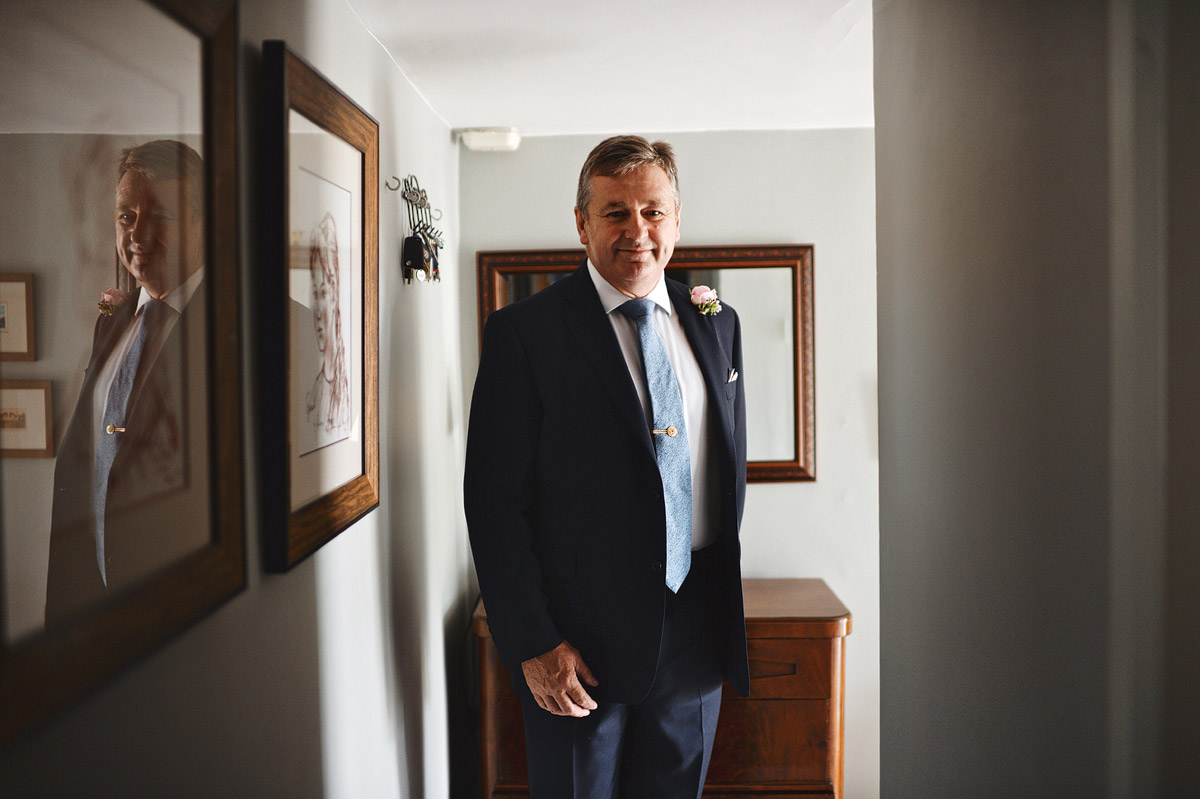 Wedding photographer London - father of the bride portrait