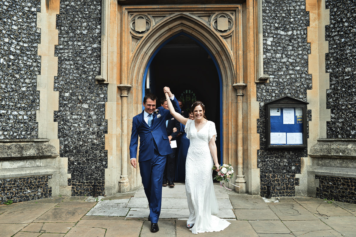 Wedding photographer London - St Mary's Church wimbledon wedding