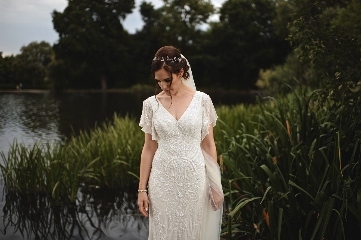 Wedding photographer London - bride portrait in wimbledon wedding