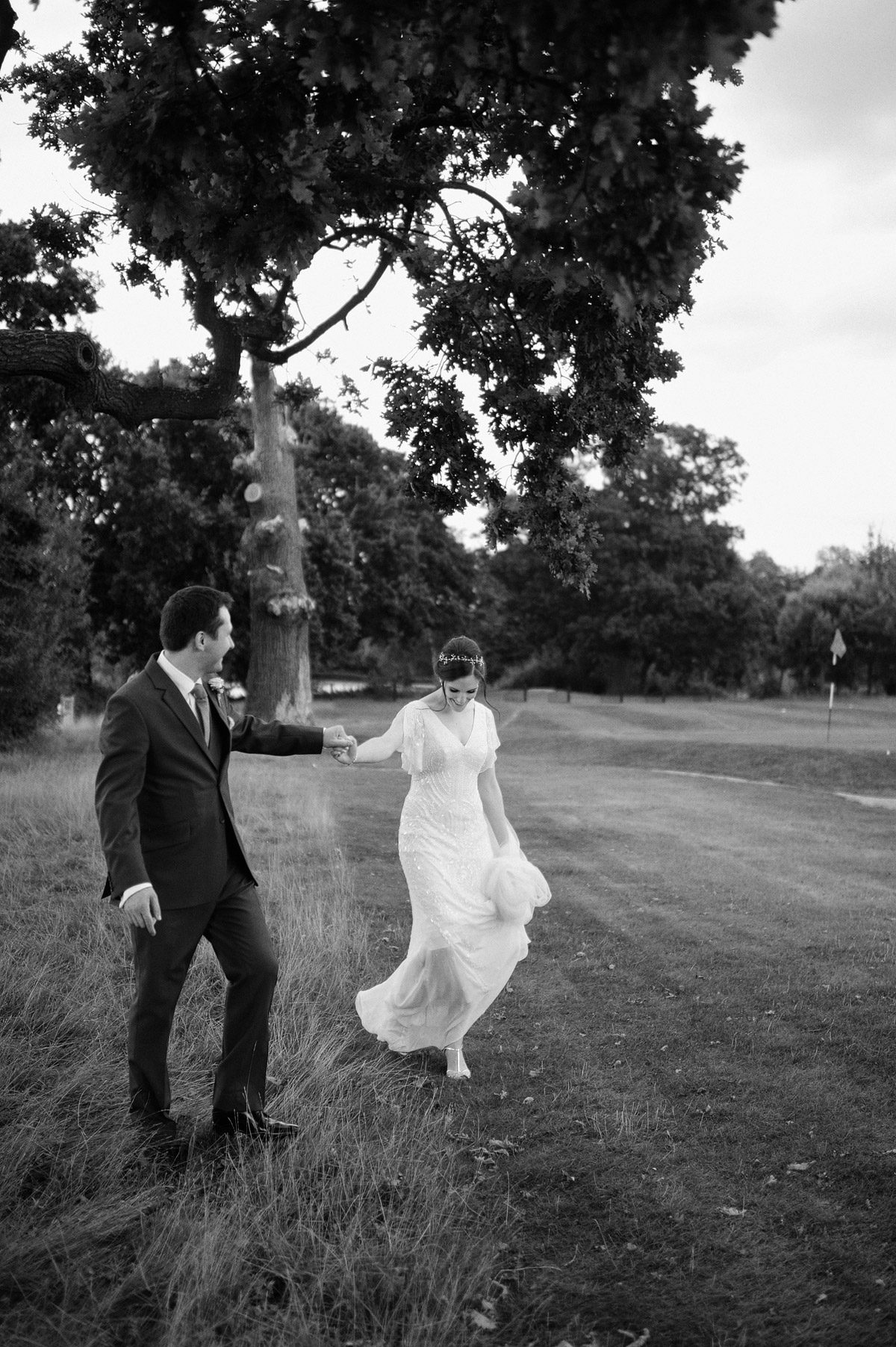 Wedding photographer London - couple portrait in wimbledon wedding