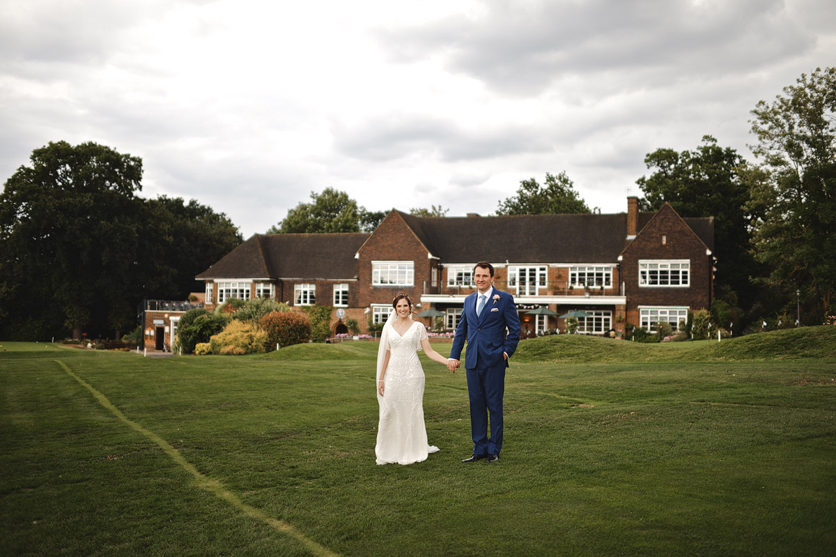 Wedding photographer London - couple portrait in wimbledon golf club wedding