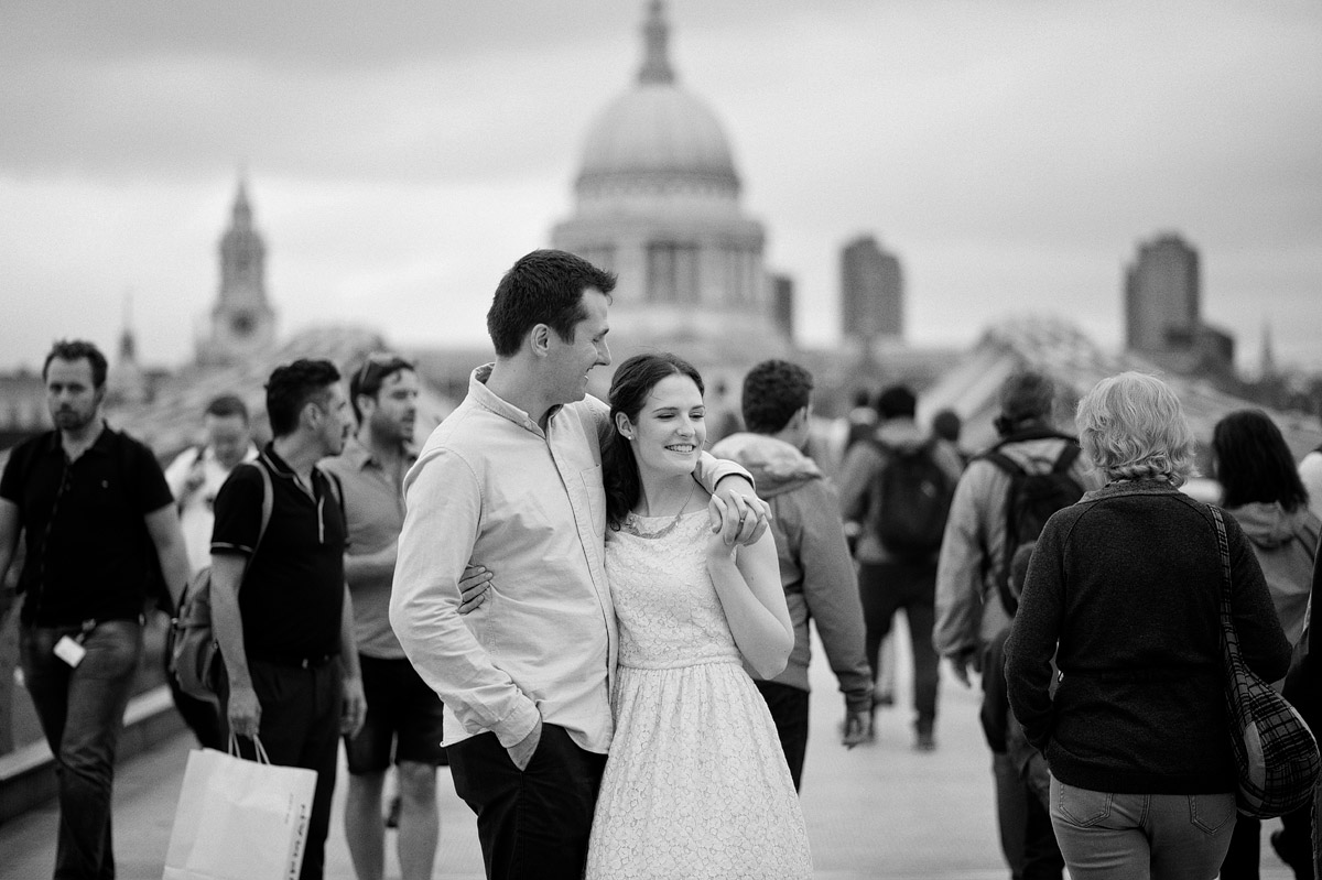 London Engagement Photography - Millennium Bridge