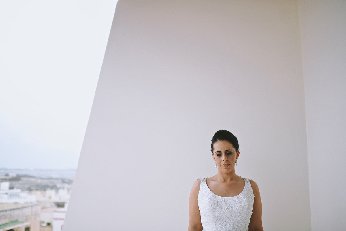 wedding photographer Malta - bride portrait