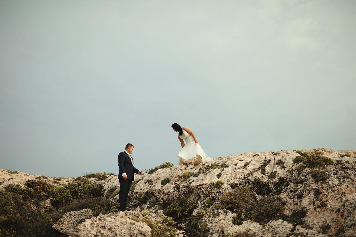 Wedding couple portrait Mtahleb, Malta