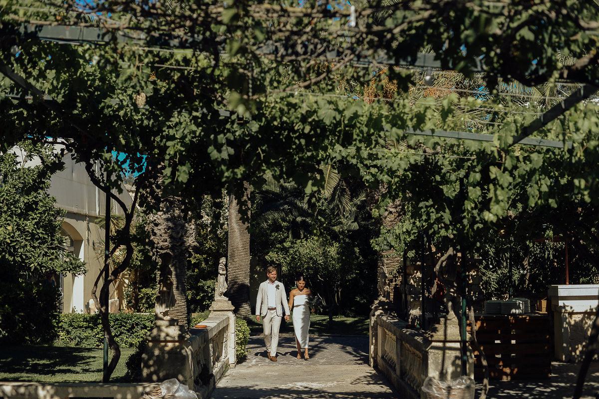 wedding ceremony in razzett l'abjad wedding venue malta