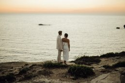 wedding portrait in gozo by the sea