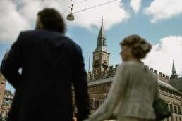 Bride and Groom at Radhus City hall Copenhagen