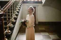 portrait of bride in City Hall Copenhagen