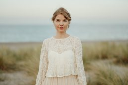 bride portrait at Copenhagen beach