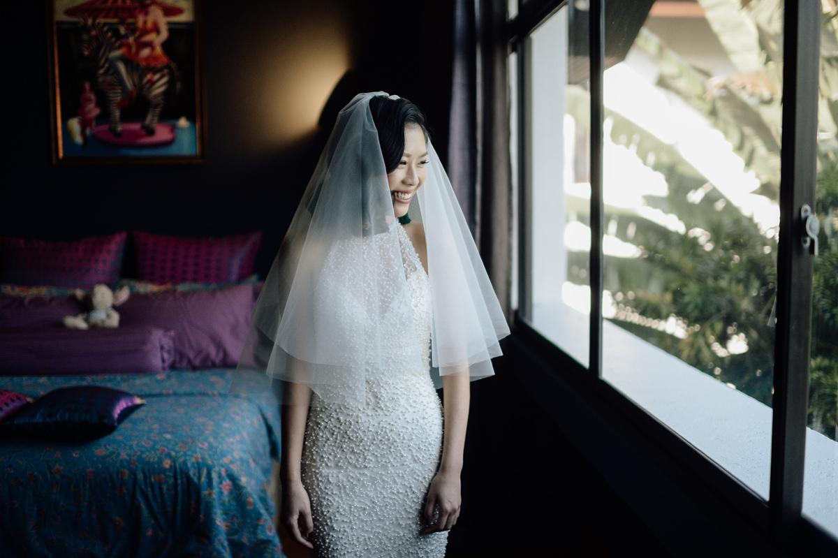 Portrait of bride in Singapore