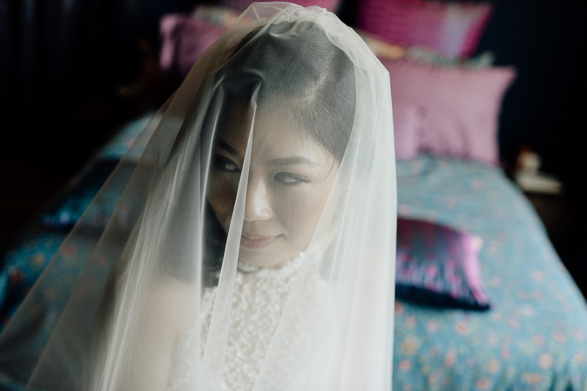 Portrait of bride in Singapore