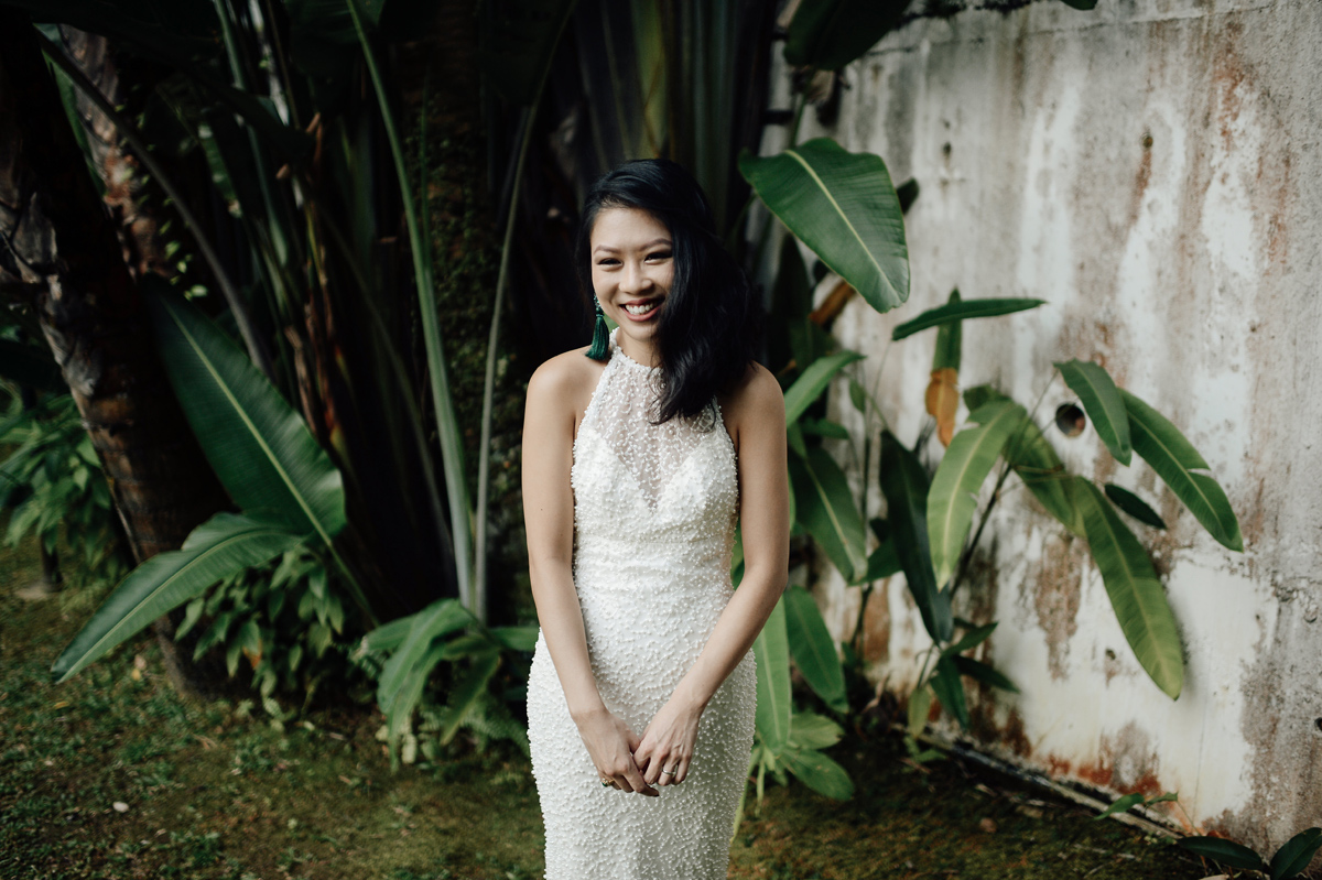 Portrait of a bride in Singapore