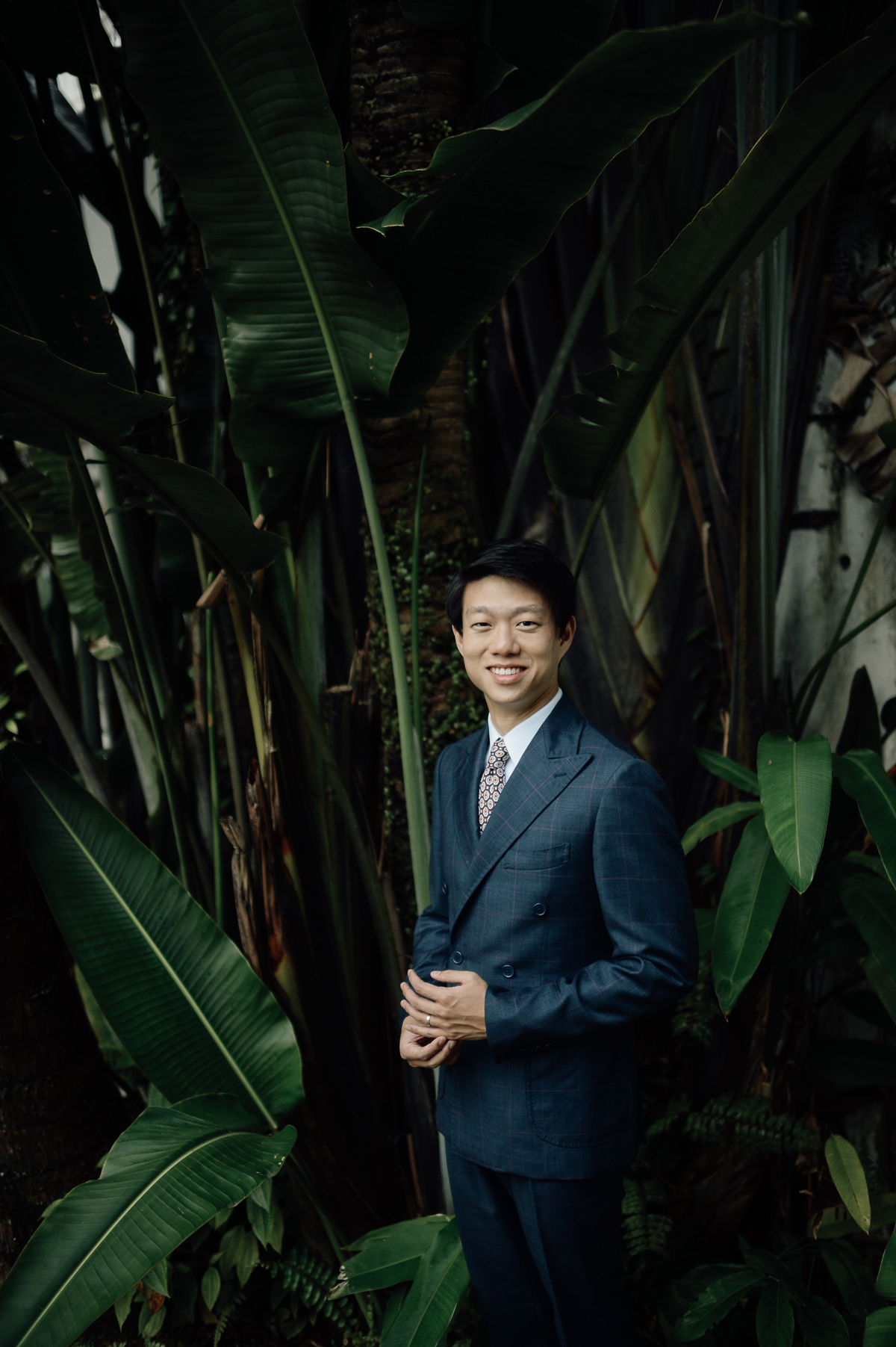 Portrait of a groom in Singapore