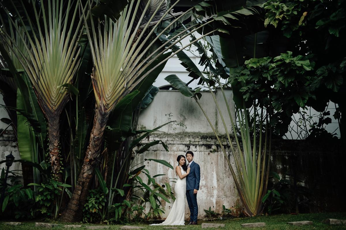 wedding couple portrait in Singapore