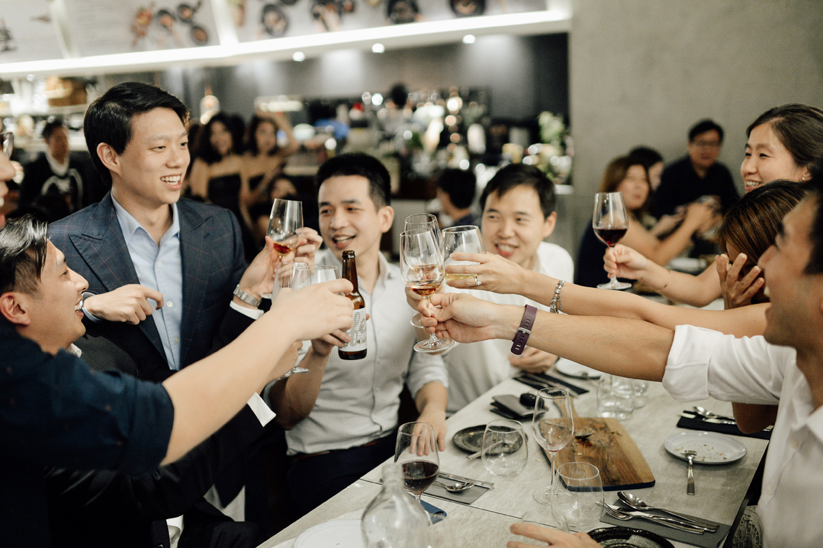wedding in Nude seafood restaurant in Singapore