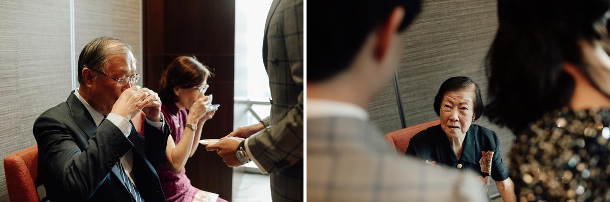 Tea ceremony in Singapore wedding