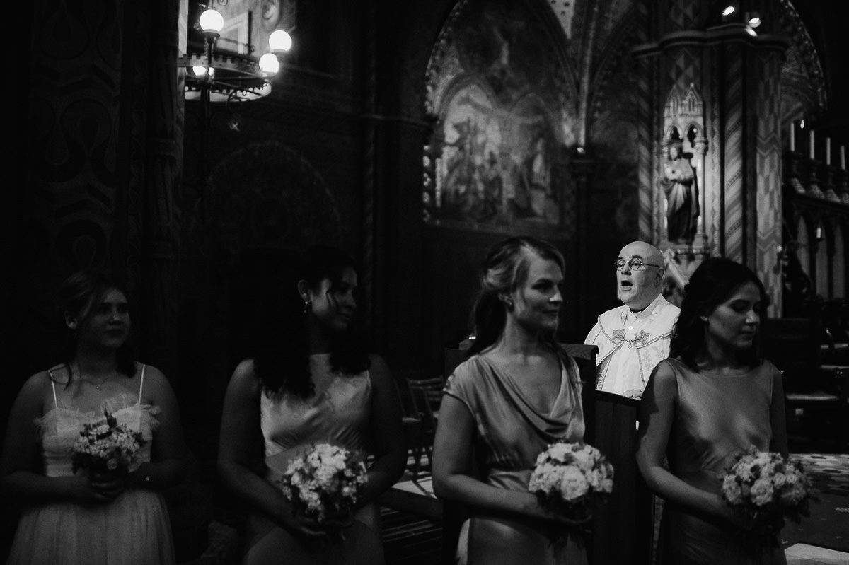 Wedding ceremony in St Matthias Church Budapest