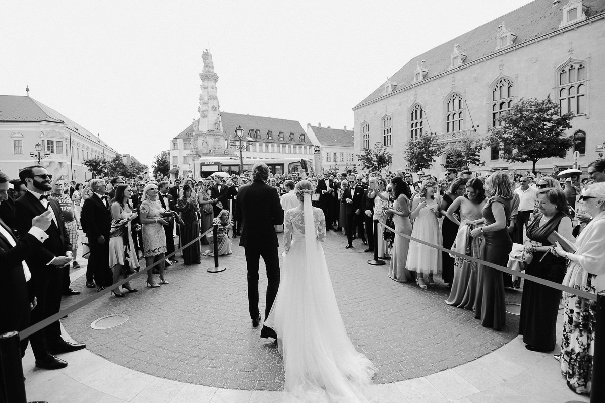 Wedding couple at St Matthias Church