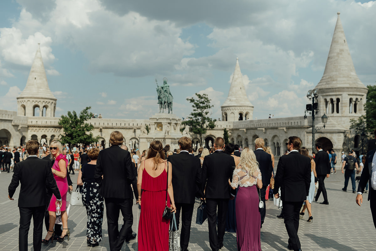 Wedding guests at Fisherman's Bastion