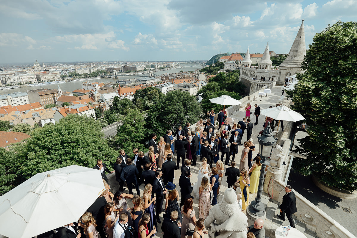 Wedding party on Fisherman's Bastion