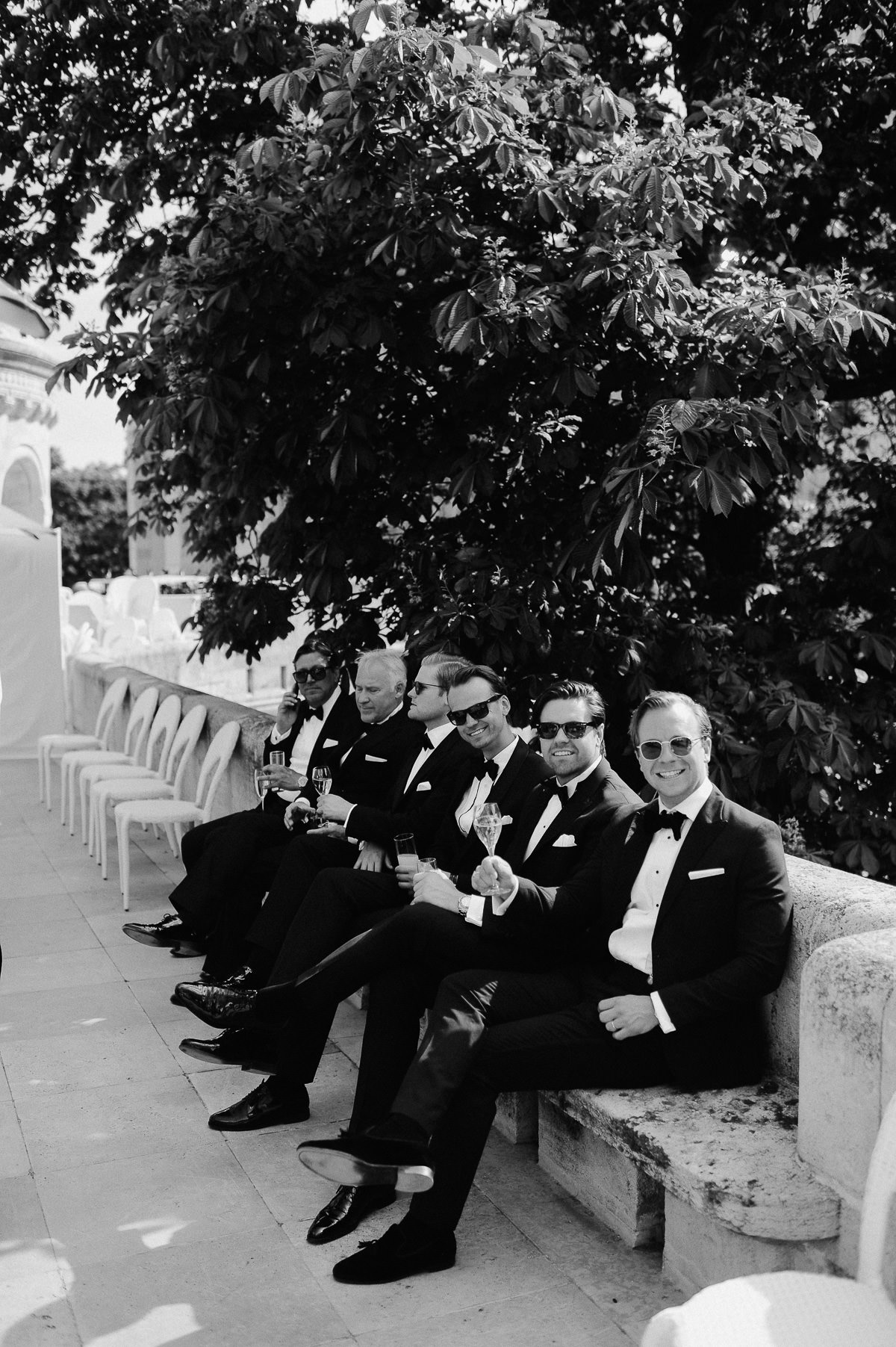 Black tie wedding in Budapest